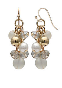Mixed Pearl and Bead Earrings
