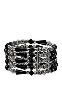 Faceted Bead Stretch Bracelet