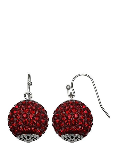 Jules B Silver-Tone Ball Drop Earrings