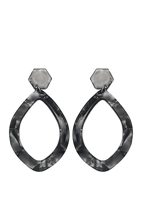 Retro Resin Teardrop Earrings