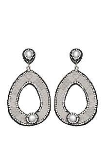 Heaven Sent Pearl Teardrop Earrings