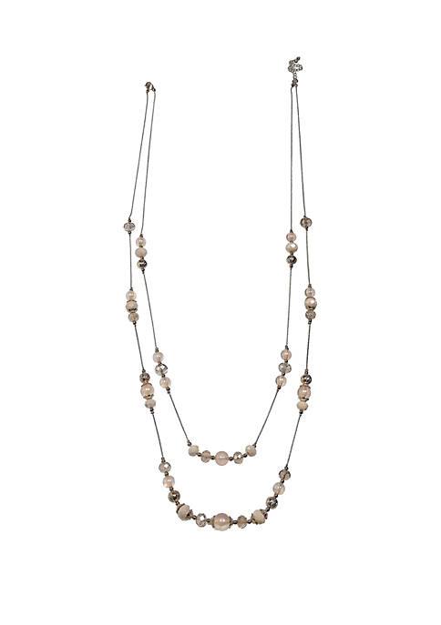 You Make Me Blush Multi Strand Long Necklace