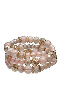 Jules B You Make Me Blush Coiled Beaded Bracelet