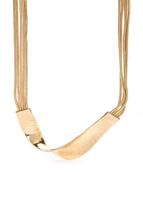 Twist Bar Statement Necklace
