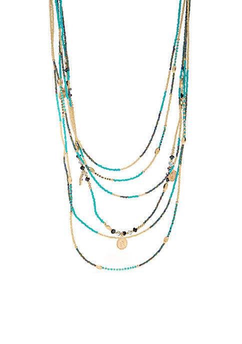 Jules B Multi Row Long Necklace