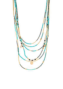 Multi Row Long Necklace