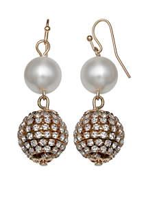 Pearl Double Drop Earrings
