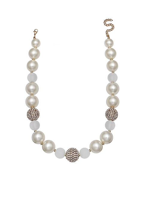 Jules B Pearl Bead Necklace