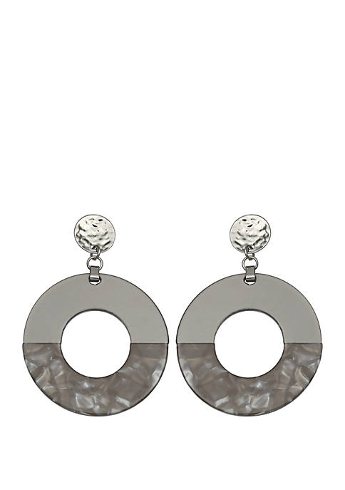 Jules B Frontal Hoop Drop Earrings