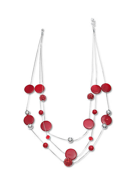 Jules B Red Hot! Illusion Necklace