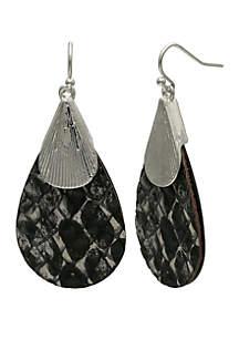 Jules B Leather Teardrop Earrings