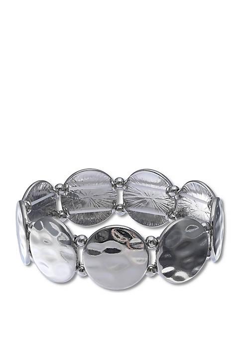 Jules B Hammered Disc Bracelet