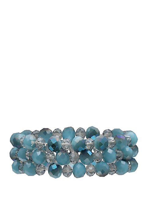 Roped Bead Stretch Bracelet