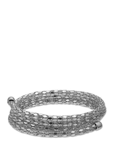 Jules B Silver Tone Coil Bracelet