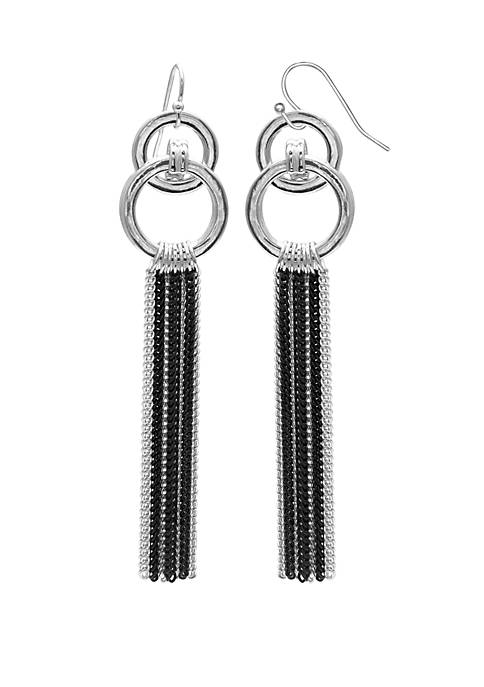 Jules B Linear Chain Drop Earrings