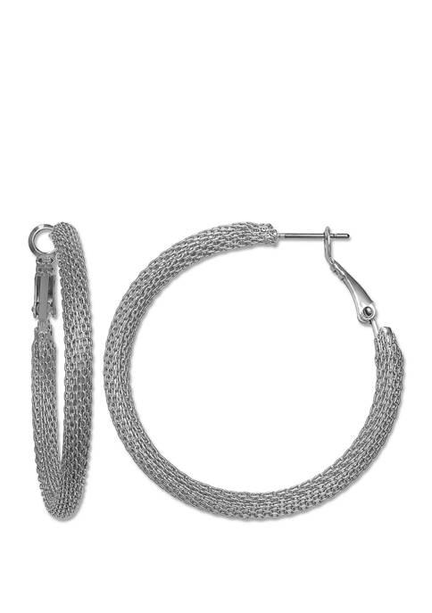 Jules B Silver Tone Hoop Earring