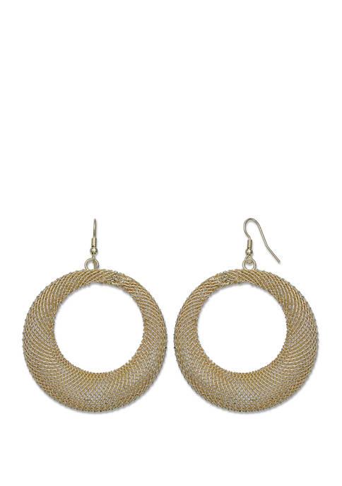 Jules B Gold Tone Hoop Earrings