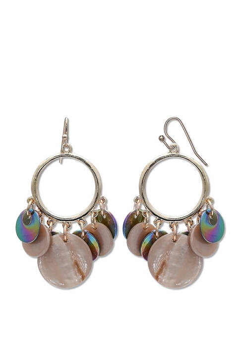 Jules B Ring Drop Earrings with Lab Created