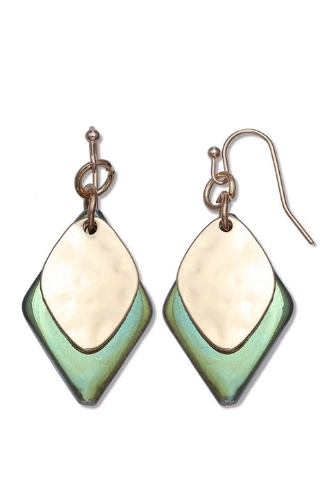 Jules B Lab Created Abalone Shell Gold Tone