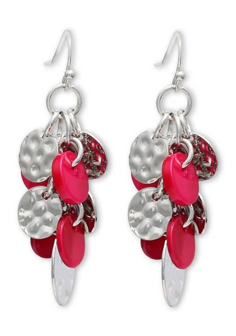 Jules B Shell Cluster Drop Earrings
