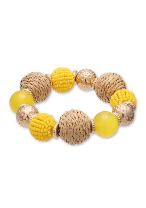 Jules B Lab Created Raffia Stretch Bracelet