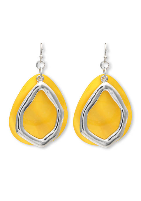 Jules B Lab Created Shell Teardrop Earrings