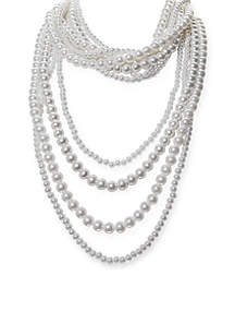 Pearls Night Out Multi Strand Pearl Necklace