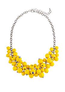 Short Shaky Bead Cluster Necklace
