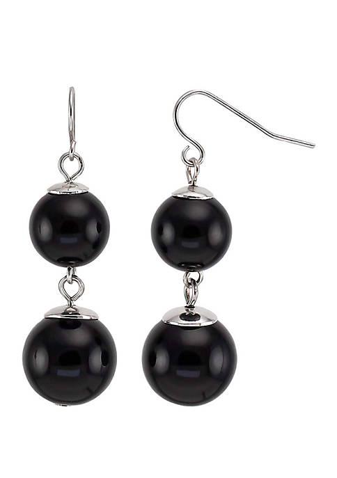 Kim Rogers® Double Bead Drop Earrings