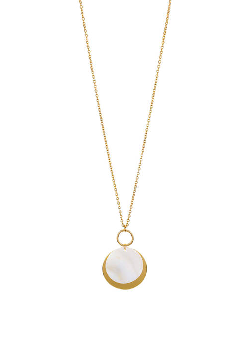 Long Layered Pendant Necklace