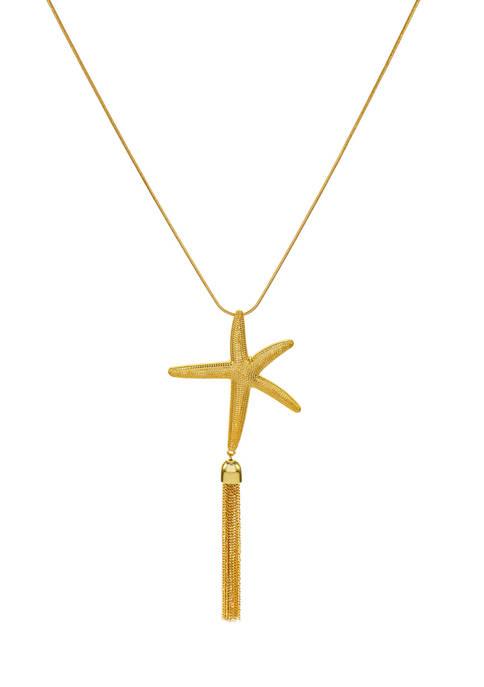 Kim Rogers® Starfish Pendant Tassel Necklace