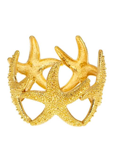 Kim Rogers® Gold Tone Starfish Stretch Bracelet