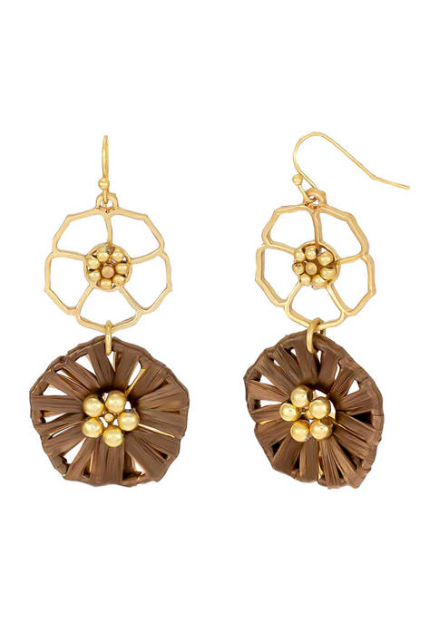 Kim Rogers® Gold Tone Open and Woven Double