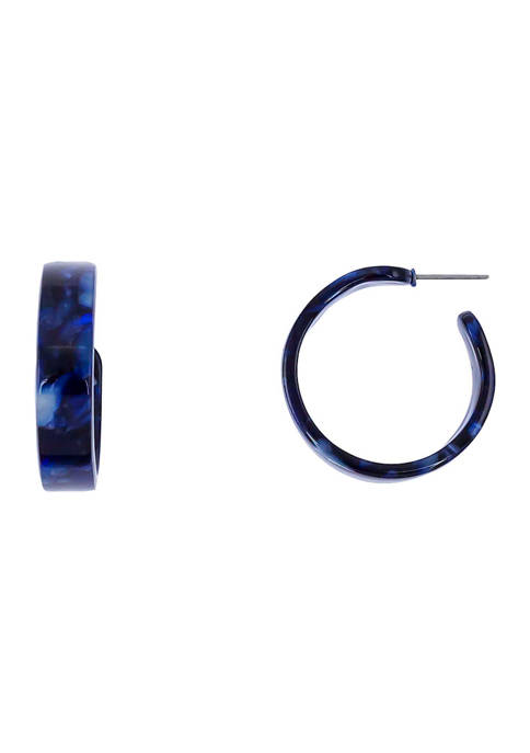 Acrylic Post Hoop Earrings