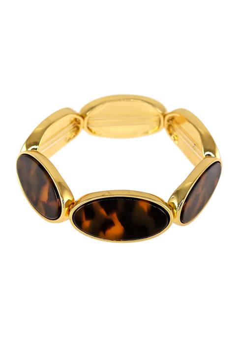 Kim Rogers® Oval Tortoise Link Stretch Bracelet