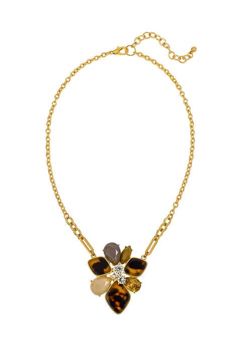 Kim Rogers® Tortoise Pendant Necklace