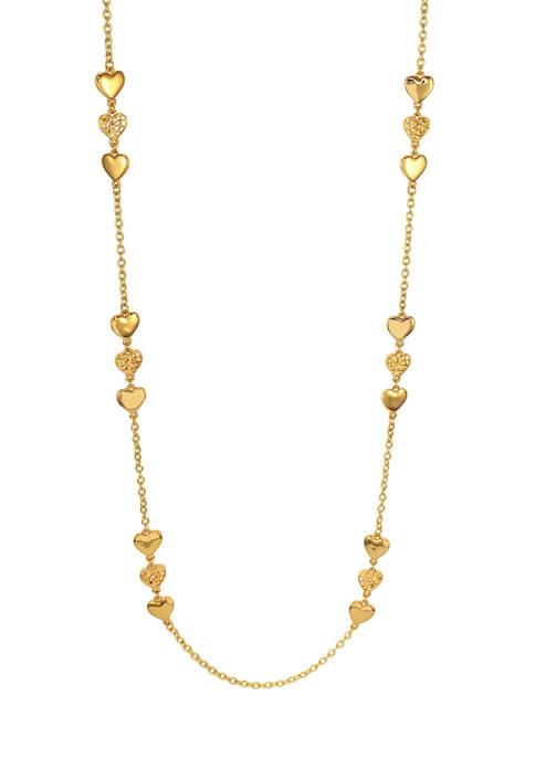 Kim Rogers® Gold-Tone Long Triple Heart Necklace
