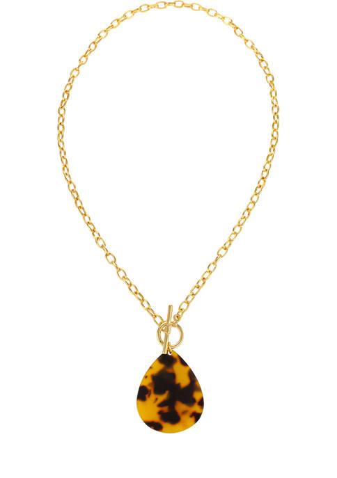 Kim Rogers® Gold Tone 18 Inch Short Tortoise