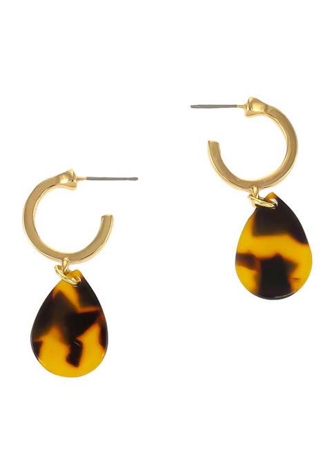 Kim Rogers® Gold Tone Small Post Hoop Earrings