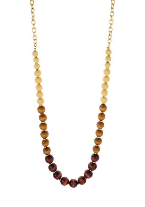 Kim Rogers® Multi-Colored Wood Bead Long Necklace