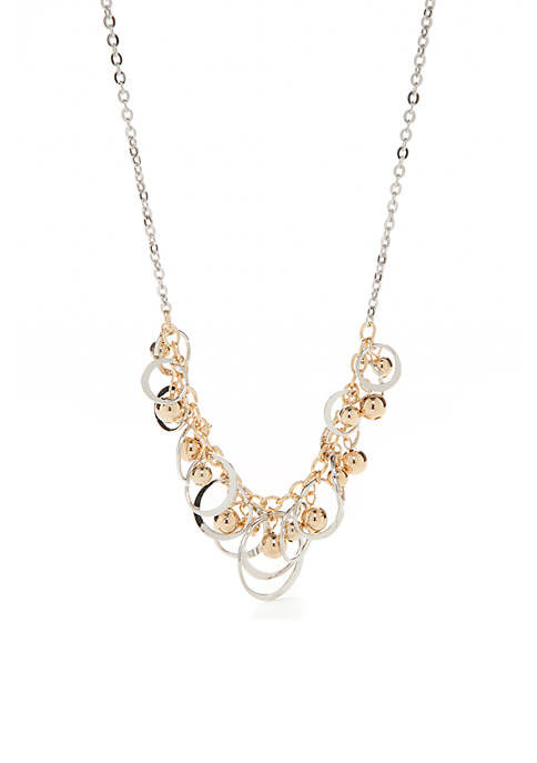 Kim Rogers® Silver-Tone Statement Necklace