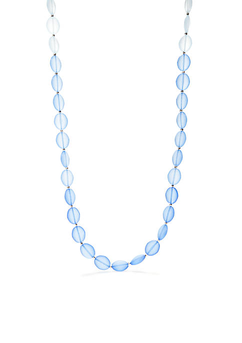 Kim Rogers® Silver-Tone Long Row Ombre Beaded Necklace