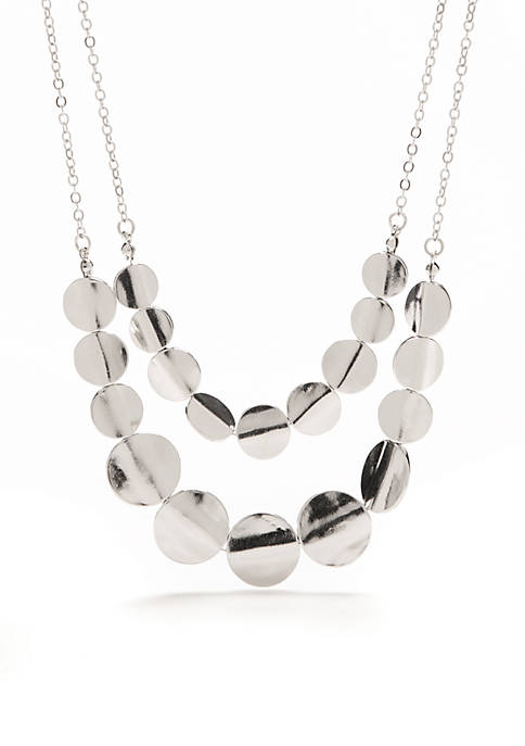 Kim Rogers® Silver-Tone New Metals 2 Row Flat
