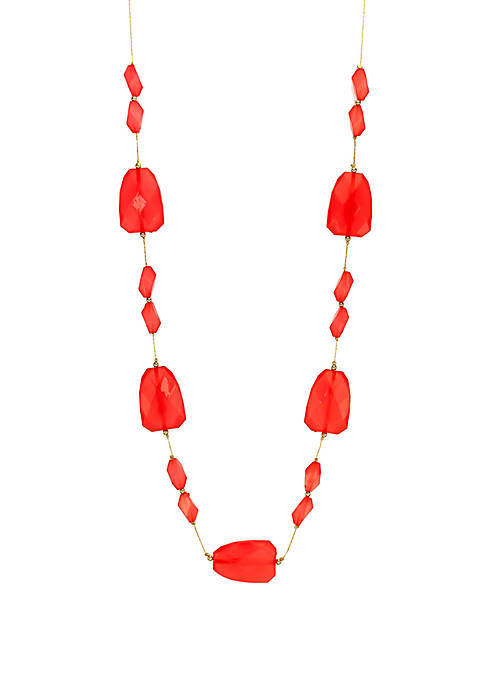 Long Beaded Illusion Necklace