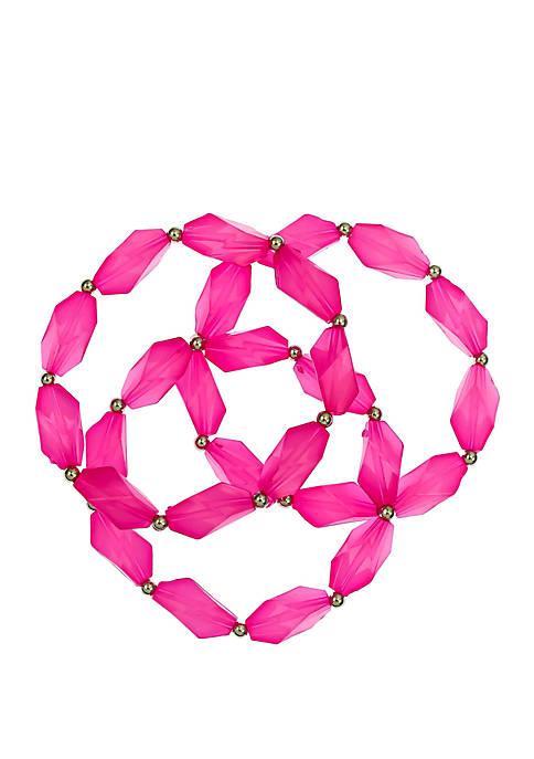 Kim Rogers® 3 Row Beaded Stretch Bracelet