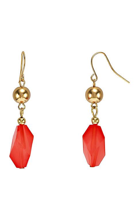 Kim Rogers® Gold Tone Double Drop Bead Earrings