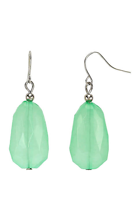 Kim Rogers® Silver Tone Chunky Bead Drop Earrings