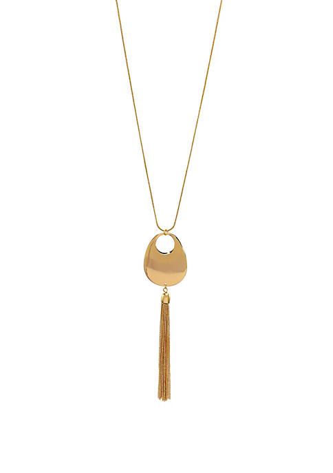Kim Rogers® Long Open Oval Tassel Necklace