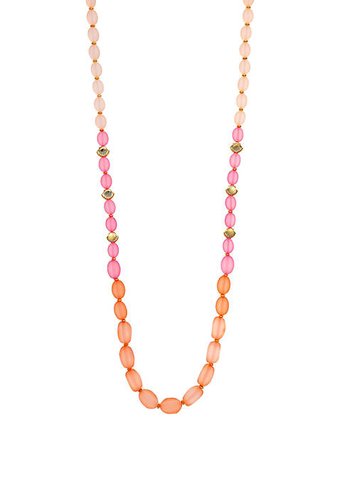 Long One Row Beaded Necklace
