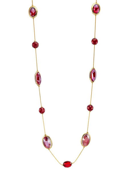 One Row Long Illusion Necklace